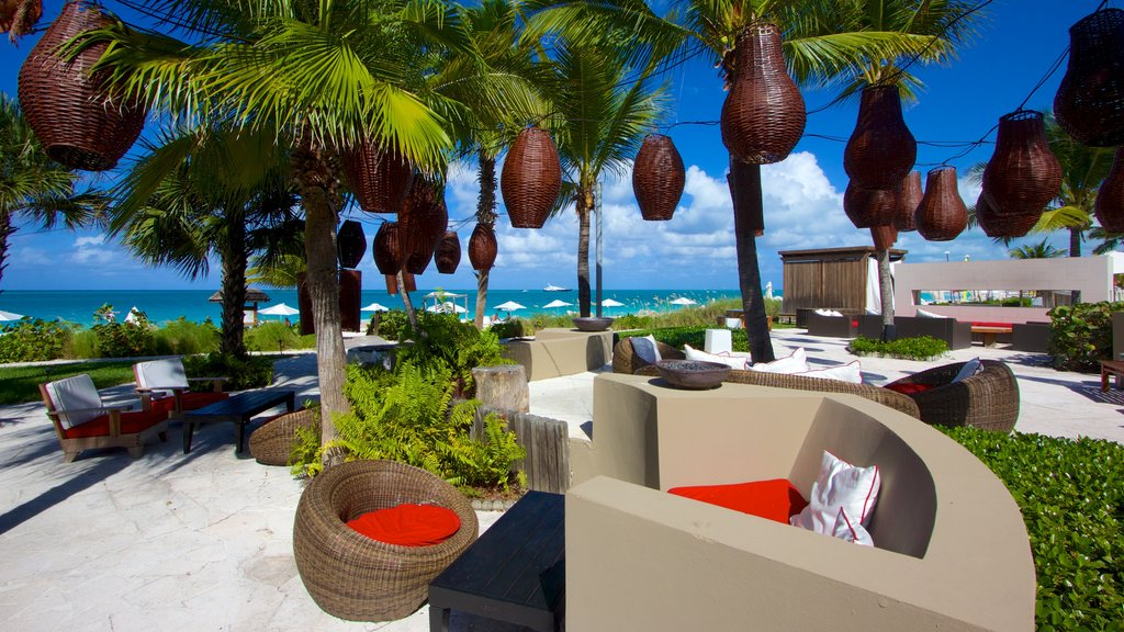 Grace Bay which includes general coastal views and a luxury hotel or resort