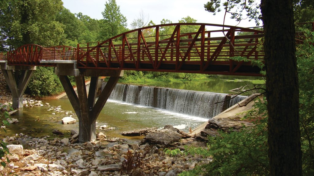 Bentonville - Fayetteville which includes a river or creek, a bridge and a cascade