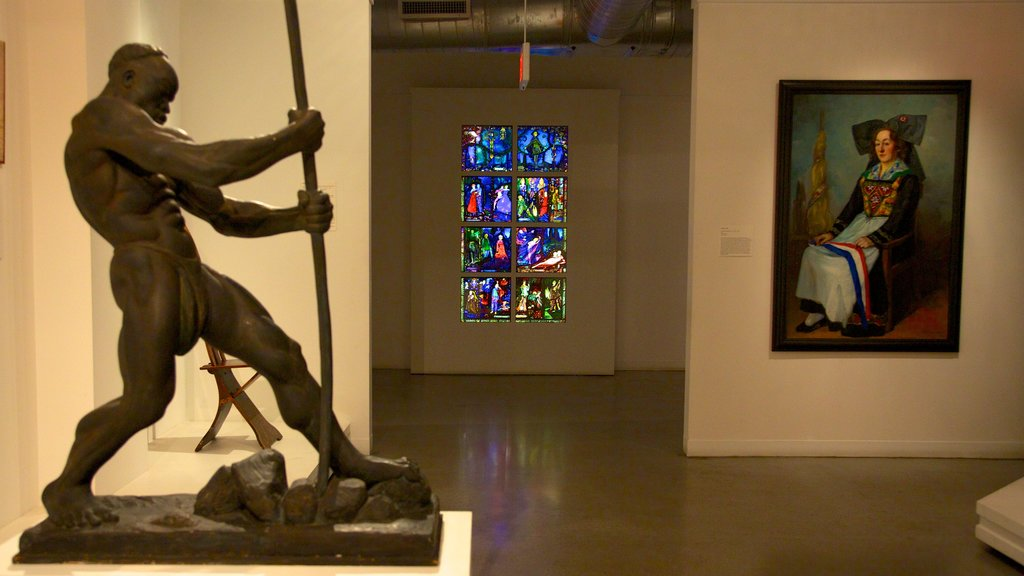 The Wolfsonian Museum showing art, interior views and a statue or sculpture