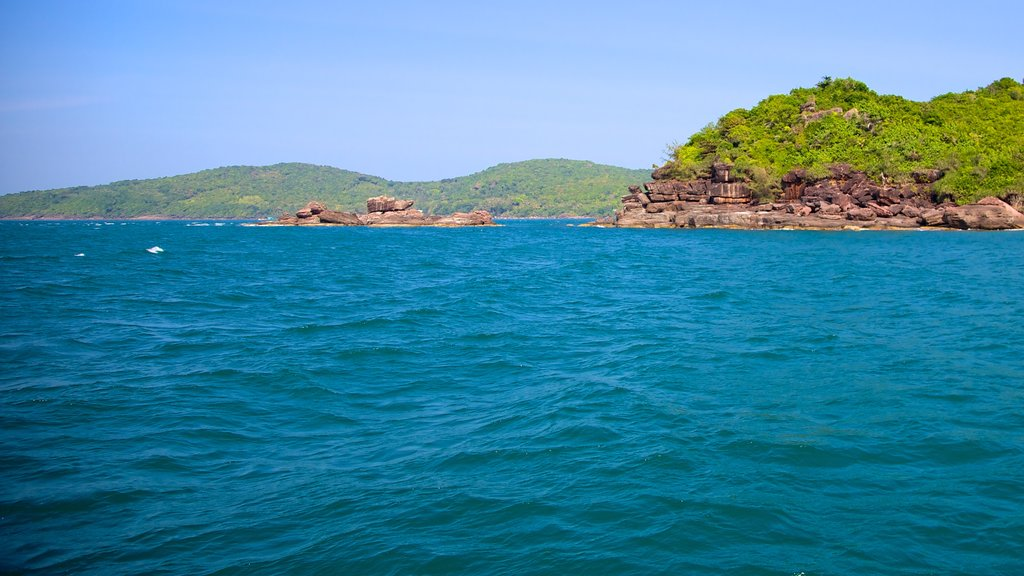 Phu Quoc featuring rugged coastline, landscape views and tropical scenes