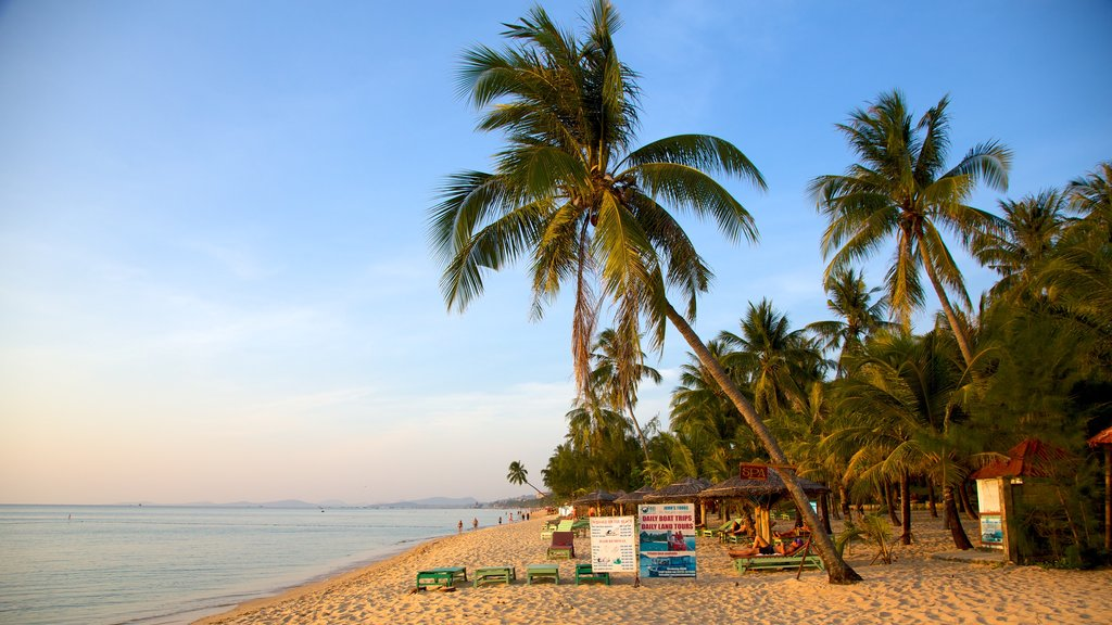 Phu Quoc Beach which includes a beach and tropical scenes