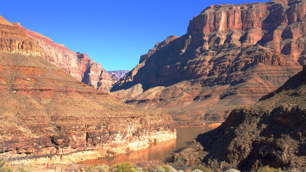 Grand Canyon showing a river or creek and a gorge or canyon