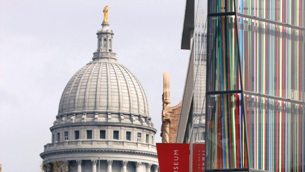Madison mostrando patrimonio de arquitectura y un edificio administrativo