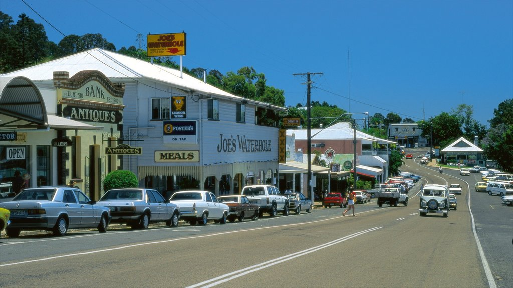 Eumundi which includes signage, street scenes and heritage elements