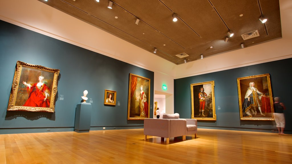 Norton Museum of Art which includes art and interior views