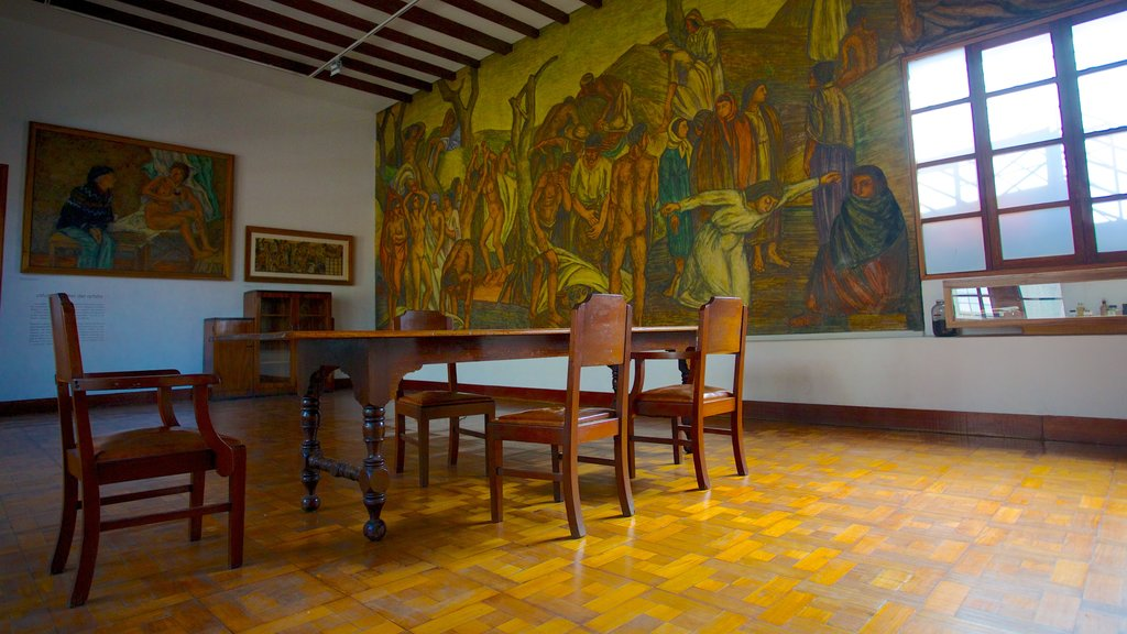 Pedro Nel Gomez Museum and House featuring interior views and art