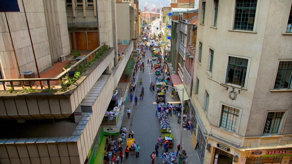 Medellin featuring markets, a city and street scenes