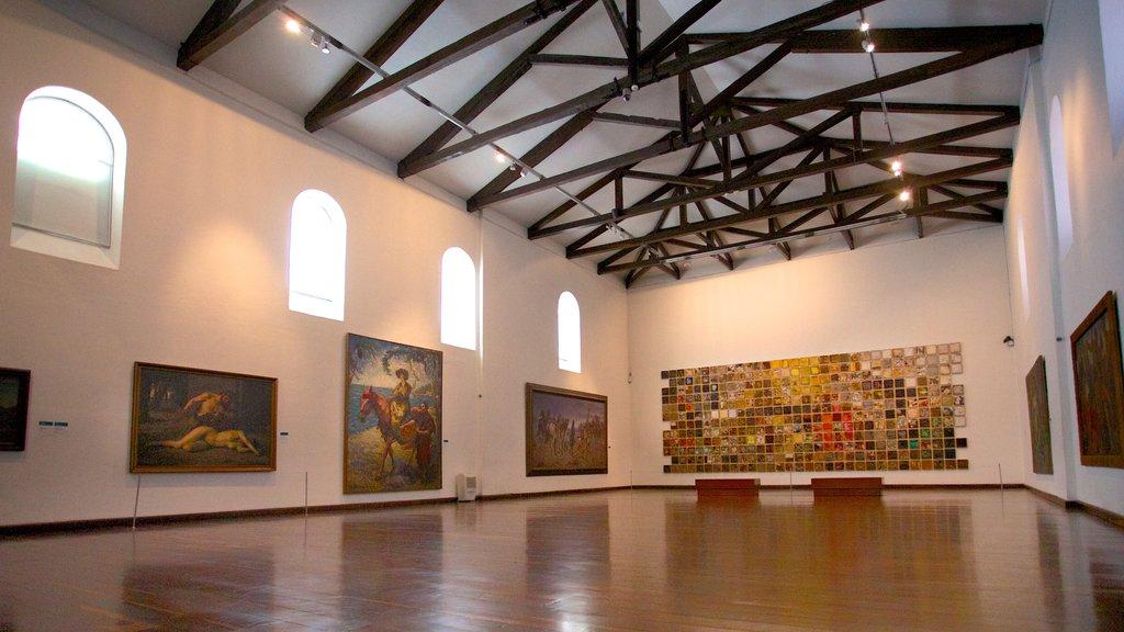 Bogota showing interior views and art