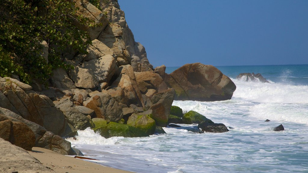 Santa Marta showing general coastal views and rocky coastline
