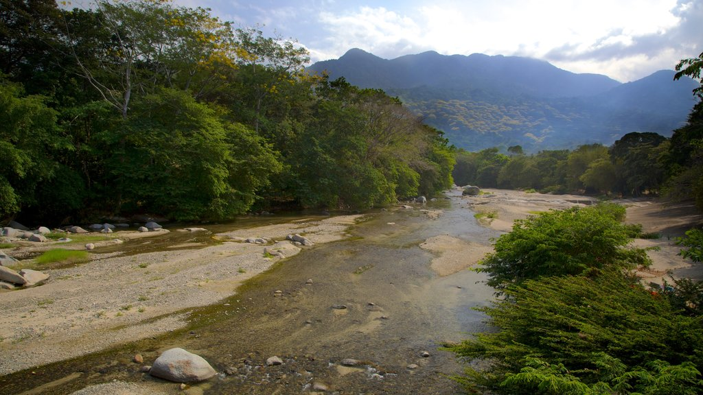 Santa Marta featuring mountains, a river or creek and tranquil scenes