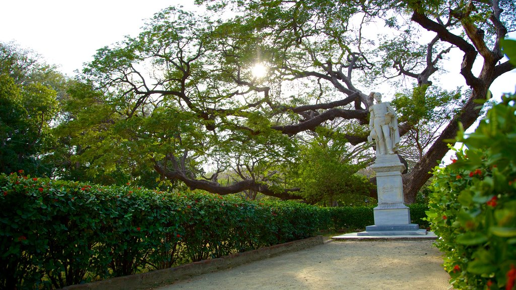 Quinta de San Pedro Alejandrino which includes a memorial, a garden and a statue or sculpture