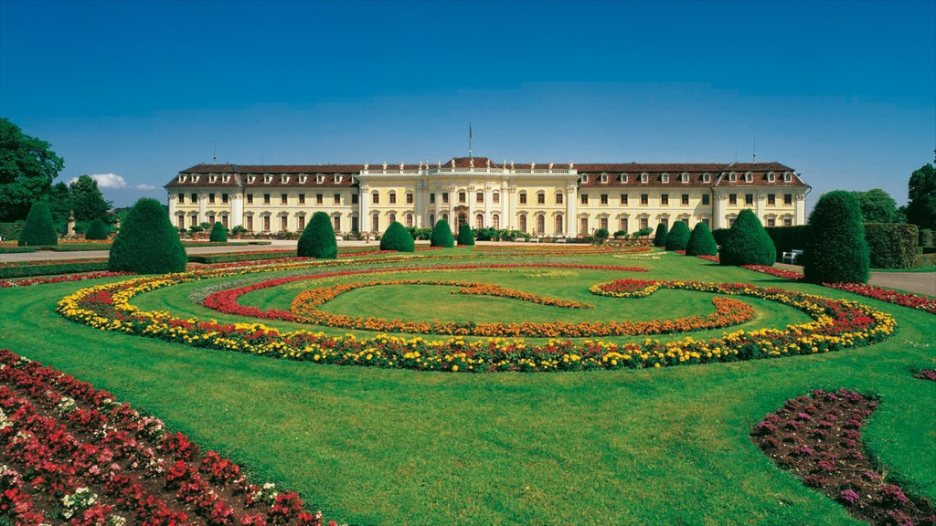 Ludwigsburg Palace featuring heritage architecture, flowers and a castle