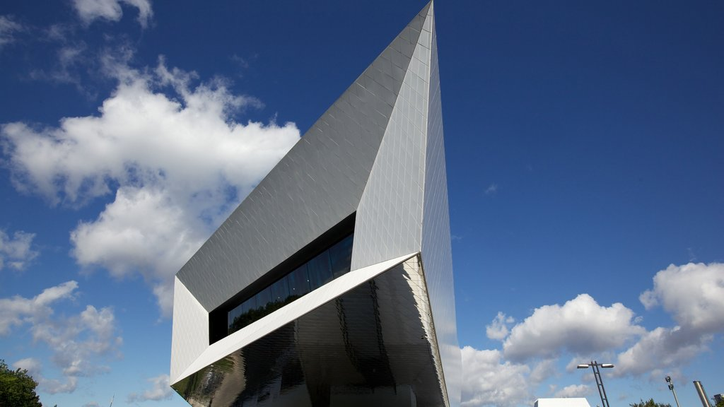 Porsche Museum which includes modern architecture