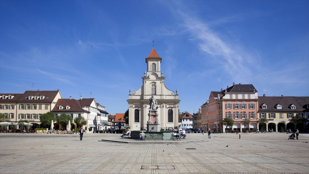 Ludwigsburg which includes a monument, a statue or sculpture and a city
