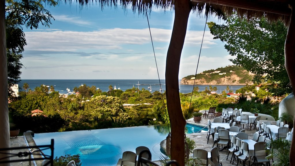 Nicaragua featuring dining out, general coastal views and a pool