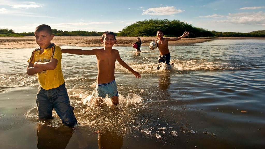 Nicaragua which includes swimming and a beach as well as children
