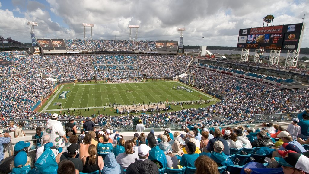 EverBank Field which includes a sporting event as well as a large group of people