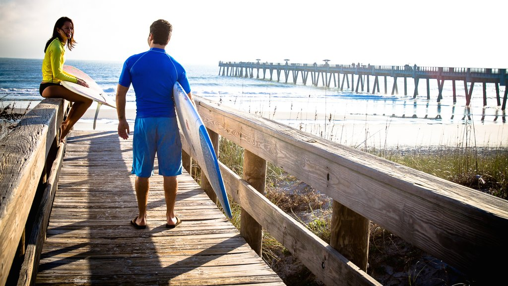Jacksonville which includes surfing, views and general coastal views