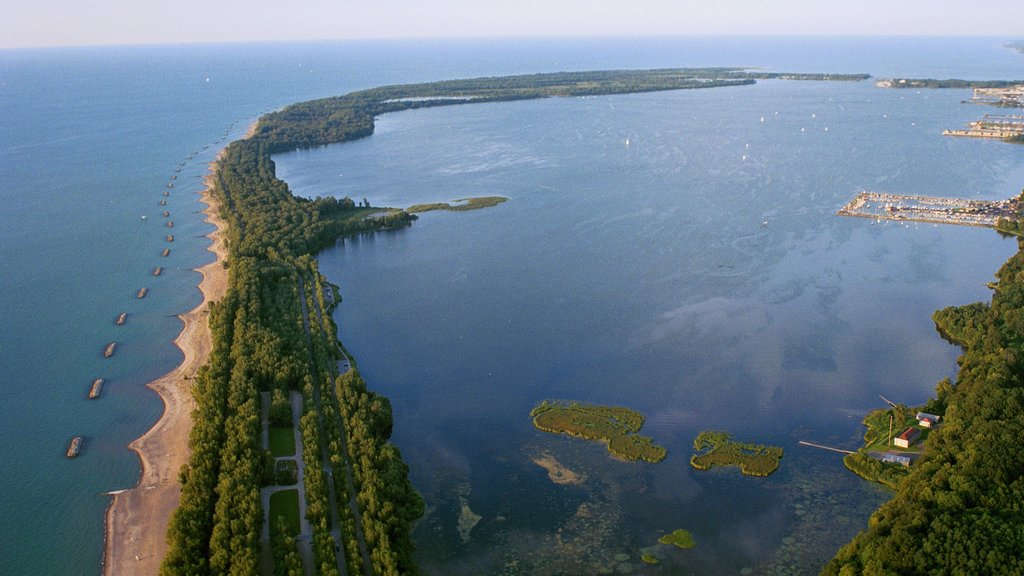Erie which includes landscape views, general coastal views and a bay or harbor