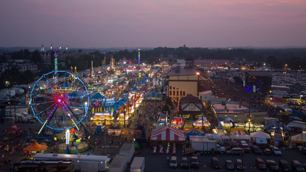 Allentown showing rides, a city and a festival