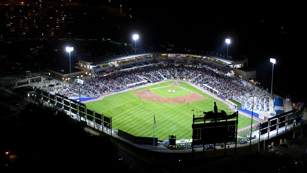 Allentown showing a sporting event and night scenes