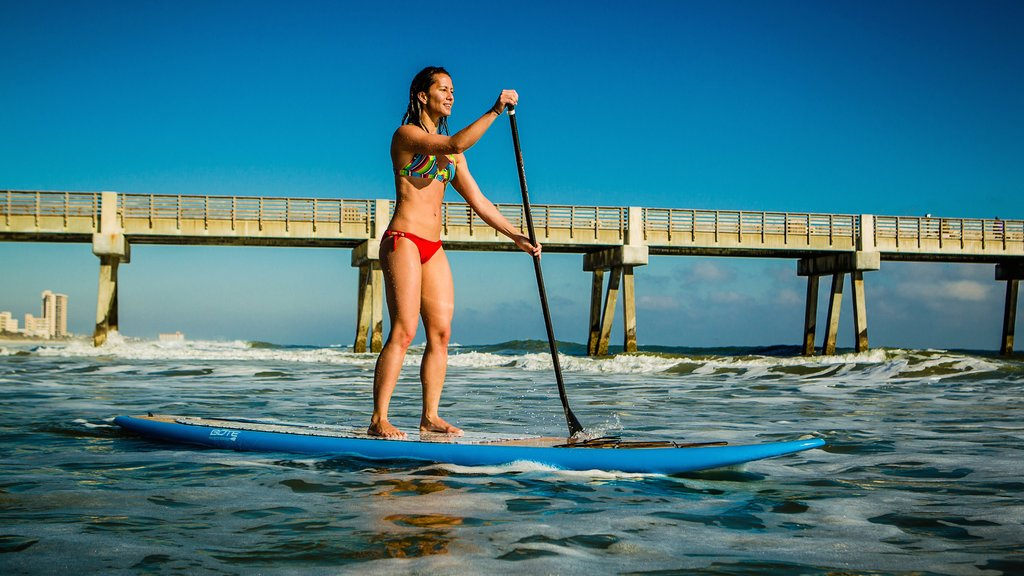 Jacksonville Beach featuring views, surfing and waves