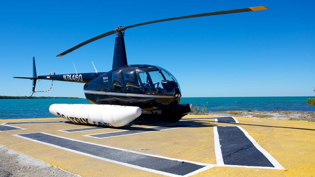 Marathon which includes an aircraft, aircraft and general coastal views