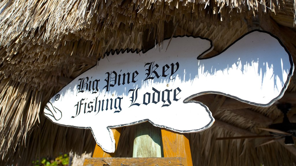 Big Pine Key which includes signage