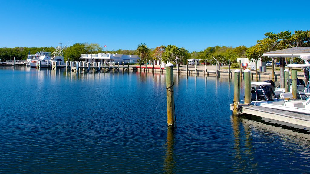 John Pennekamp Coral Reef State Park which includes a coastal town, a marina and a bay or harbor