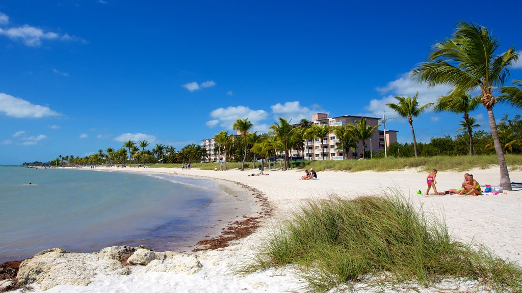 Smathers Beach showing a luxury hotel or resort, tropical scenes and a beach