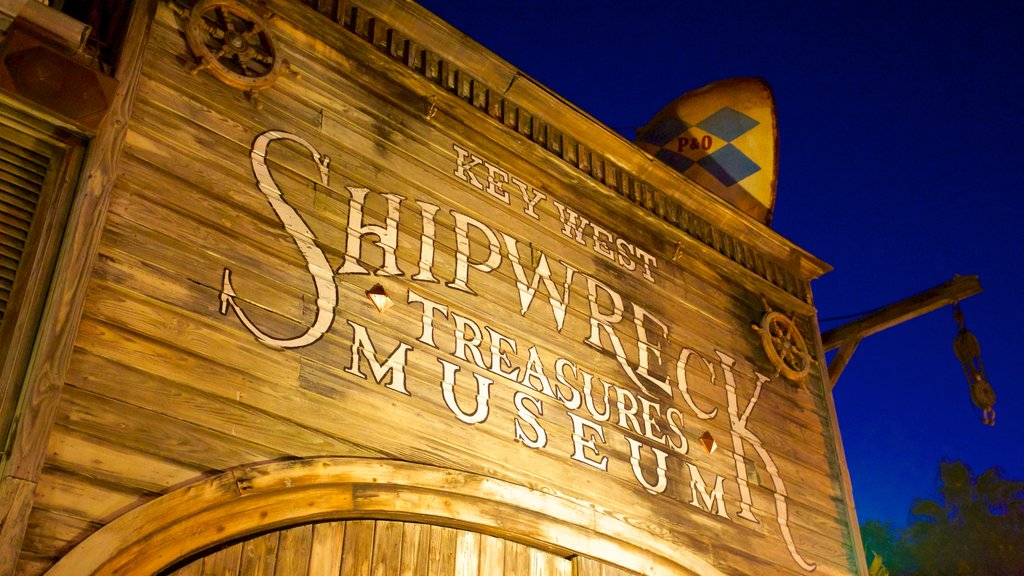 Key West Shipwreck Museum featuring signage