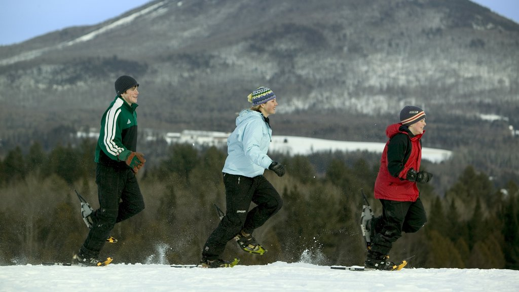 Vermont showing snow shoeing as well as children