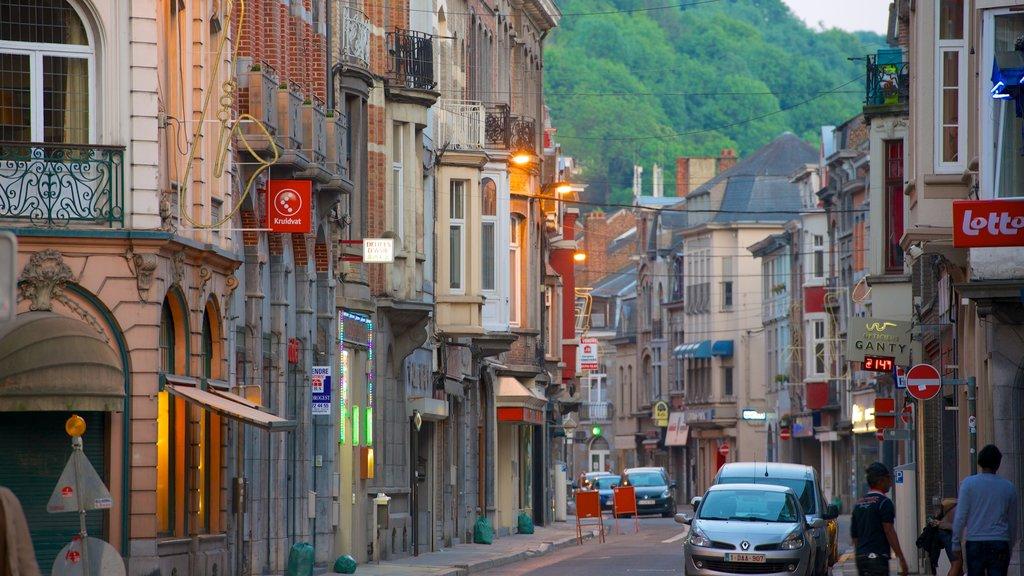 Dinant showing street scenes