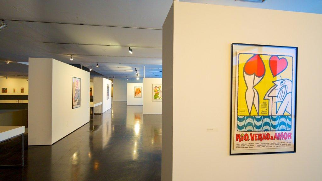 Museum of Modern Art featuring interior views and art