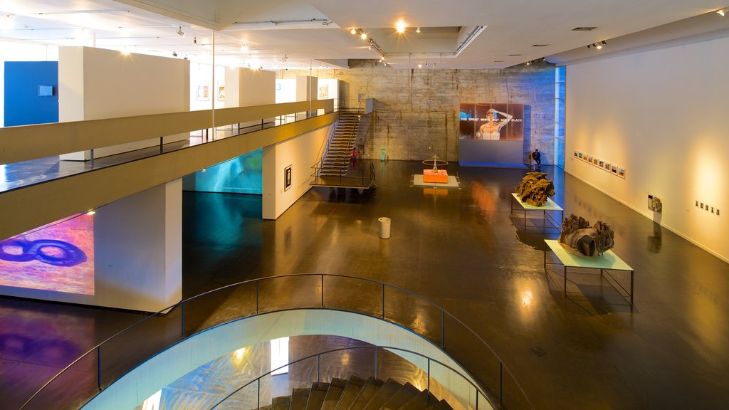 Museum of Modern Art which includes art and interior views