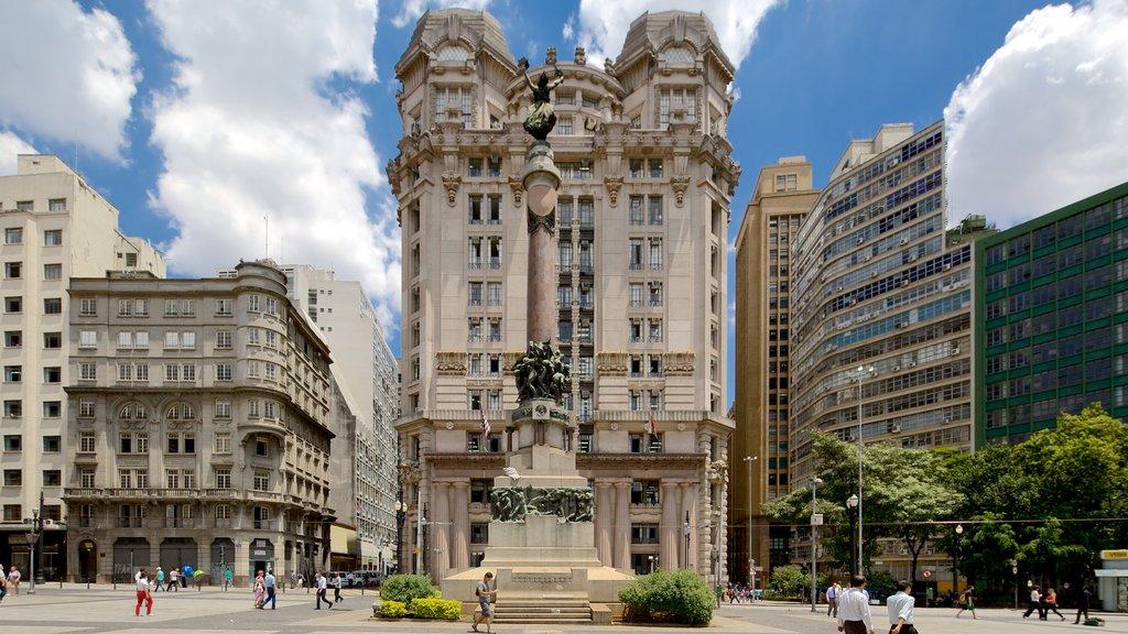 Sao Paulo que incluye una ciudad, patrimonio de arquitectura y escenas urbanas