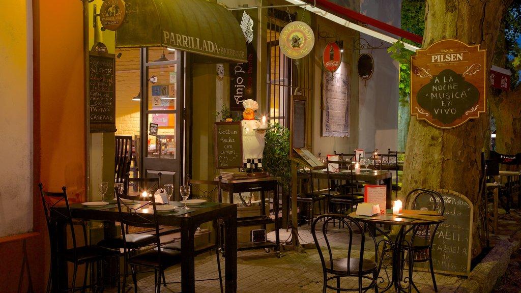 Colonia del Sacramento Plaza de Armas showing dining out