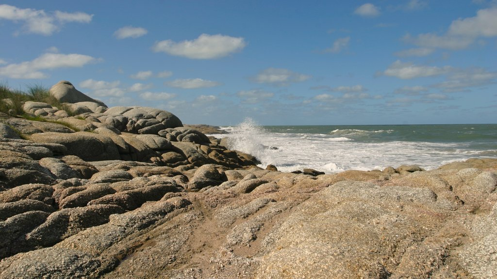 Punta del Diablo featuring rugged coastline