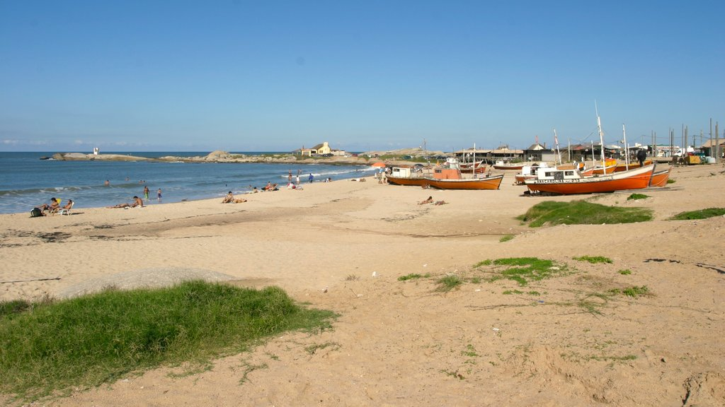 Punta del Diablo showing a sandy beach