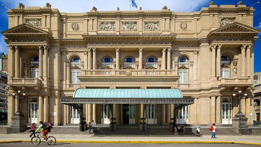 Teatro Colon which includes street scenes and heritage architecture