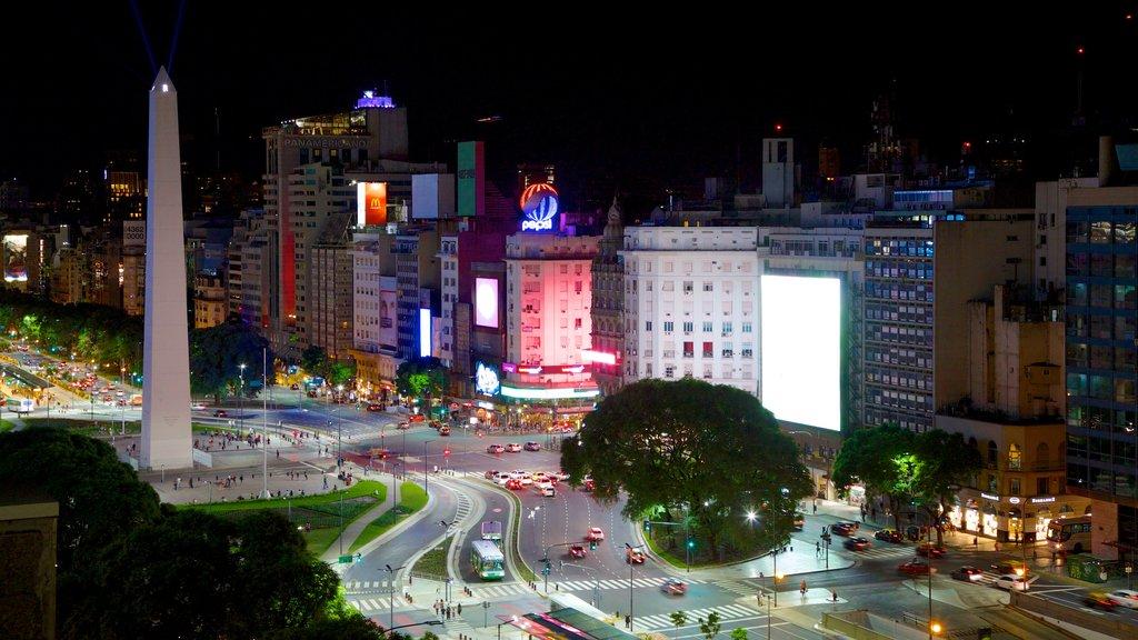 Buenos Aires ofreciendo arquitectura moderna, una ciudad y escenas nocturnas