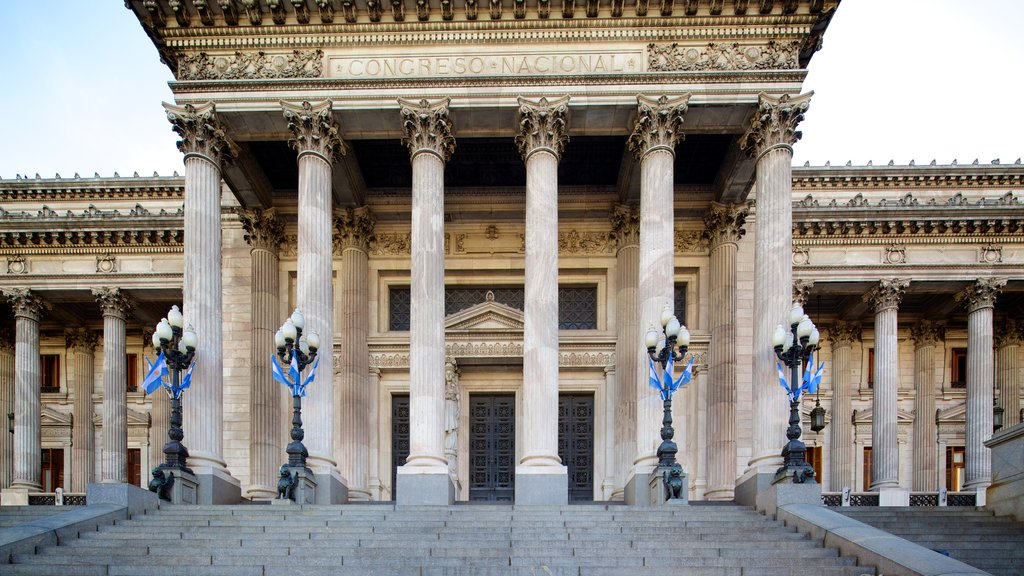 Congreso Nacional Argentino que incluye un edificio administrativo y patrimonio de arquitectura