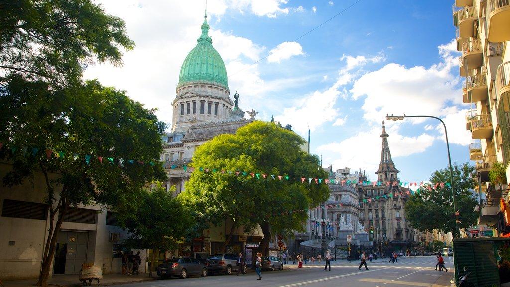 Congreso Nacional Argentino que incluye una ciudad, patrimonio de arquitectura y escenas urbanas