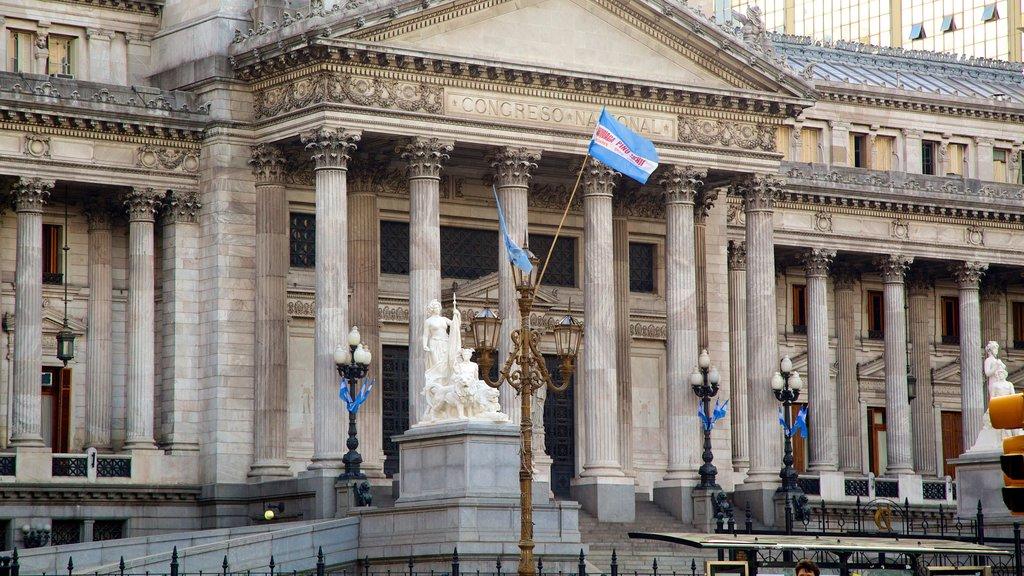 Congreso Nacional Argentino ofreciendo un edificio administrativo y patrimonio de arquitectura