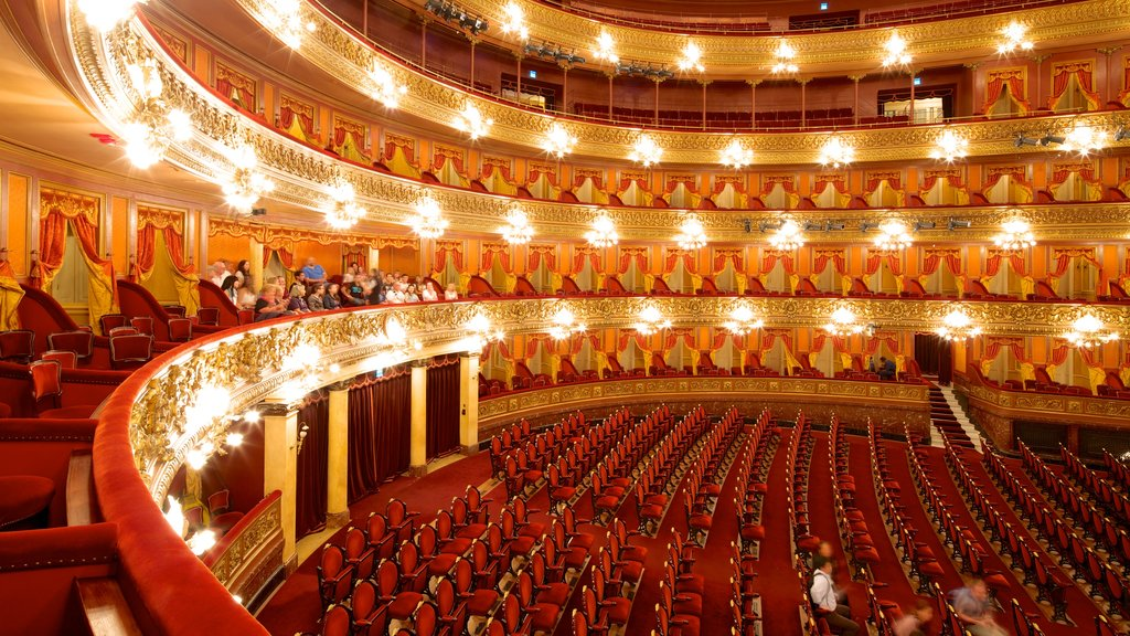 Teatro Colón ofreciendo vistas interiores y escenas de teatro