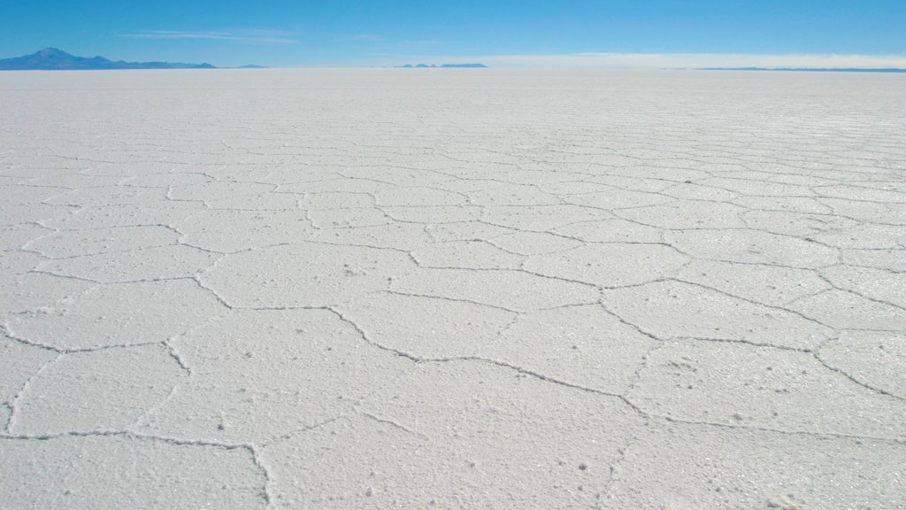 Salar de Uyuni showing landscape views and a lake or waterhole