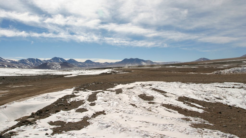 Bolivia featuring desert views, landscape views and snow
