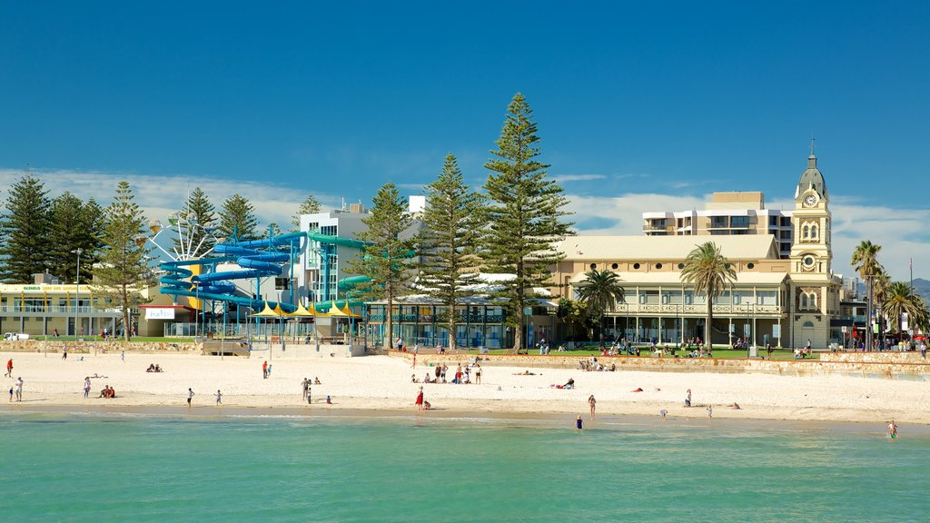 Glenelg Beach showing general coastal views and a sandy beach