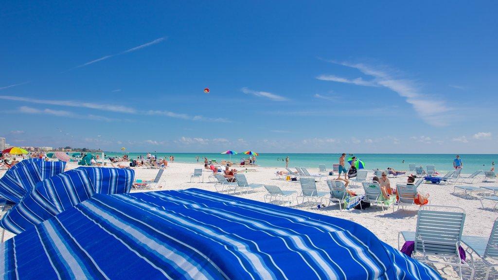 Siesta Key Public Beach which includes a beach