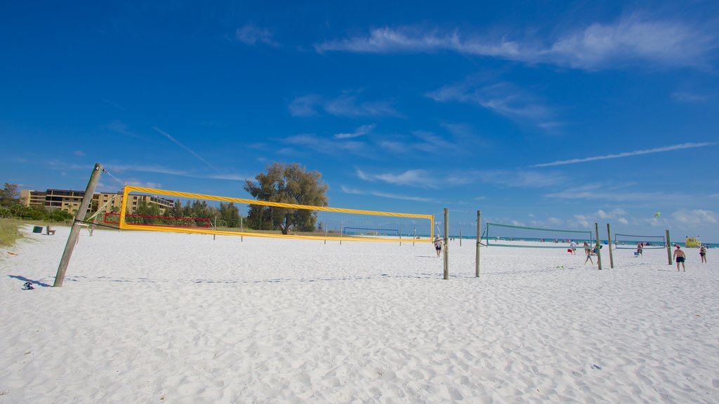 Siesta Key Public Beach showing a beach